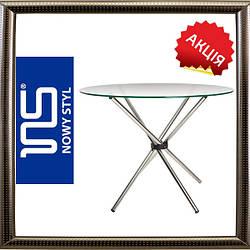 Обеденный стол АКВА AQUA BLACK H18 D 90