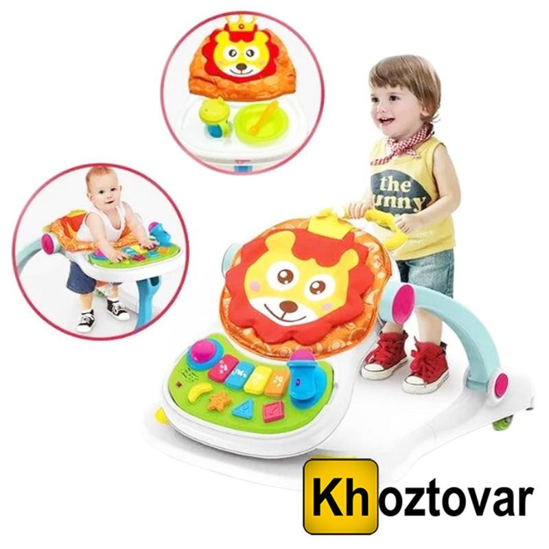 Детские ходунки игровой центр 4 в 1 Walker B3 | Стульчик для кормления