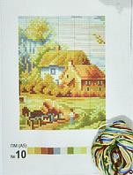 Печать на вышив.ткани ПМ А5 с мулине №10 уп=1шт
