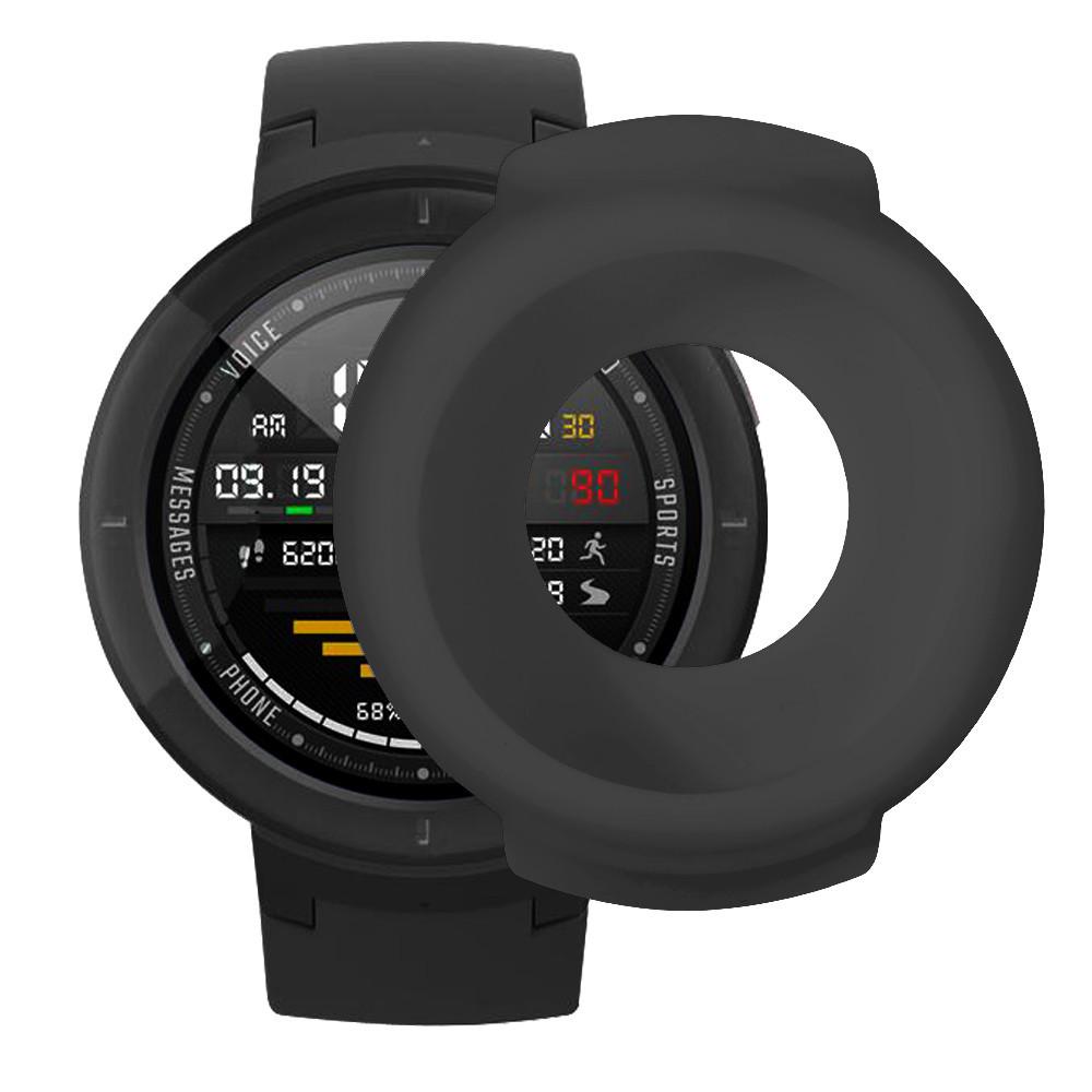 Силіконовий захисний корпус Primolux для годин Xiaomi Huami Amazfit Verge (A1801 / A1811) - Black