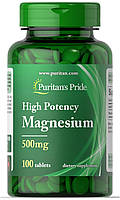 Puritans Pride Magnesium 500 mg (100 tablets)