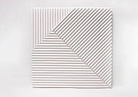 "Гипсовые 3D панели ""Lines"" White 500*500*25 мм"