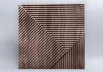 """Деревяные 3D панели """"Lines Wood"""" Орех 500*500*25 мм"""