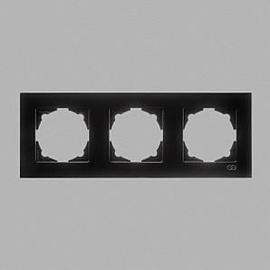 Eqona рамка 3-я черная глянцевая