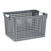 Корзина для хранения пластиковая серая KELA Mika 35х25,5х21,5 см (12355)