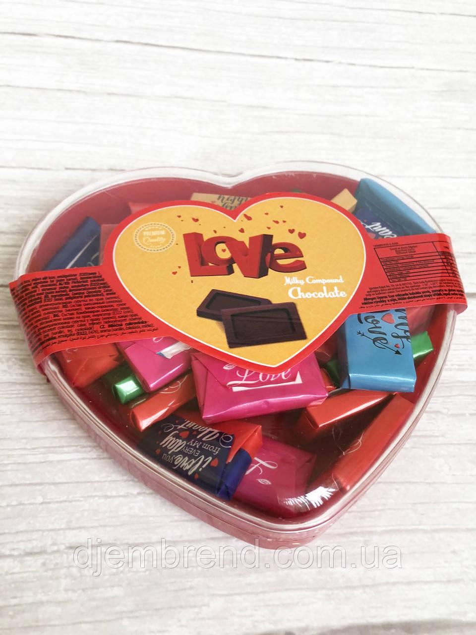 Шоколадные конфеты Love молочным шоколадом Vanelli , 150 гр