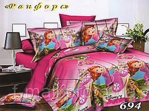 Комплект детского постельного белья Тет-А-Тет (Украина) ранфорс полуторное (694)