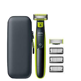 Триммер Philips OneBlade Body Kit + Face - 2 насадки + футляр QP100 ЕС
