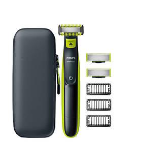 Триммер Philips OneBlade Body Kit + Face - 3 насадки + футляр QP100 ЕС