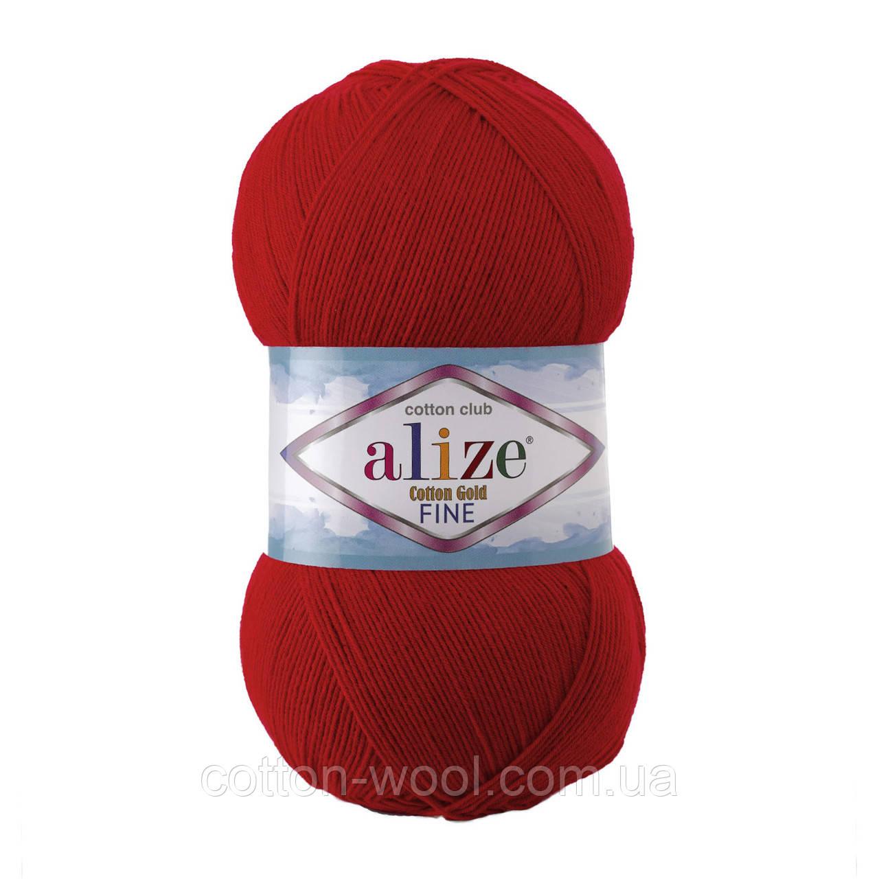 Alize Cotton  Gold Fine (Коттон Голд Файн) 55% - бавовна, 45% - акріл 56