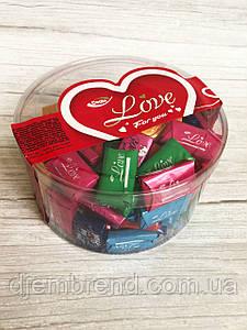 Шоколадные конфеты Love, молочный шоколад, Vanelli , 450 гр
