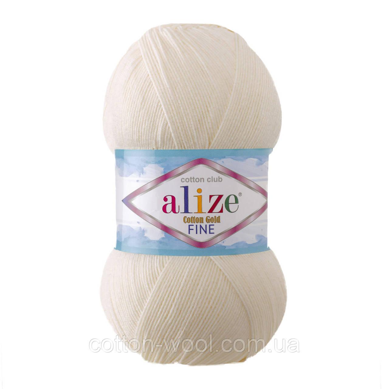Alize Cotton  Gold Fine (Коттон Голд Файн) 55% - бавовна, 45% - акріл 62