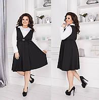 Платье с рубашкой обманкой в расцветках 29722, фото 1