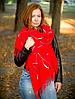 Палантин Таяна 180*70 см, красный