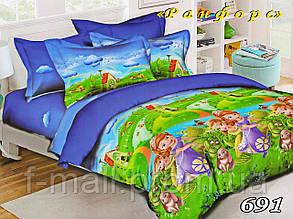 Комплект детского постельного белья Тет-А-Тет (Украина) ранфорс полуторное (691)