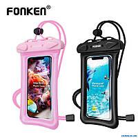 Водонепроницаемый чехол FONKEN для смартфона.  Водостойкий пакет для вещей. (мешок)