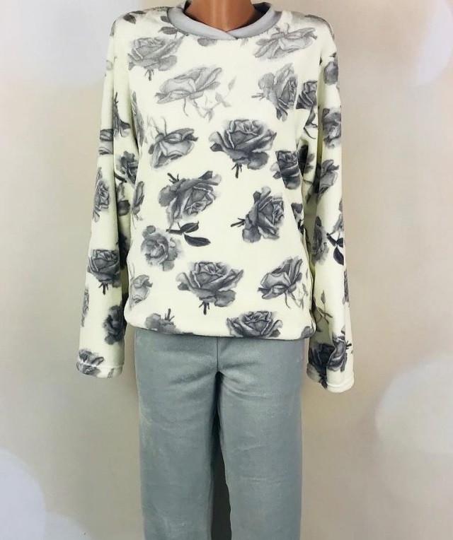 Женская махровая пижама (велсофт) теплая кофта со штанами зимняя