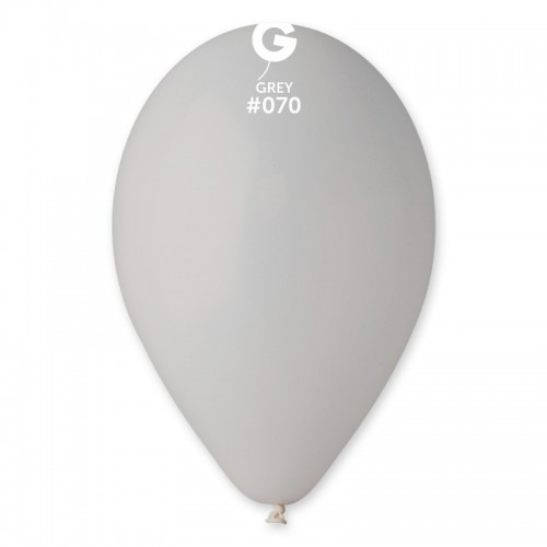 "Латексна кулька пастель Сірий 10"" /70/ 26см   Gray"