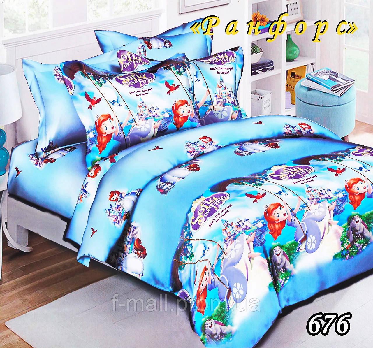 Комплект детского постельного белья Тет-А-Тет (Украина) ранфорс полуторное (676)