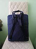 Женский желто-синий рюкзак сумка Fjallraven Kanken Classic канкен 16 л, фото 9