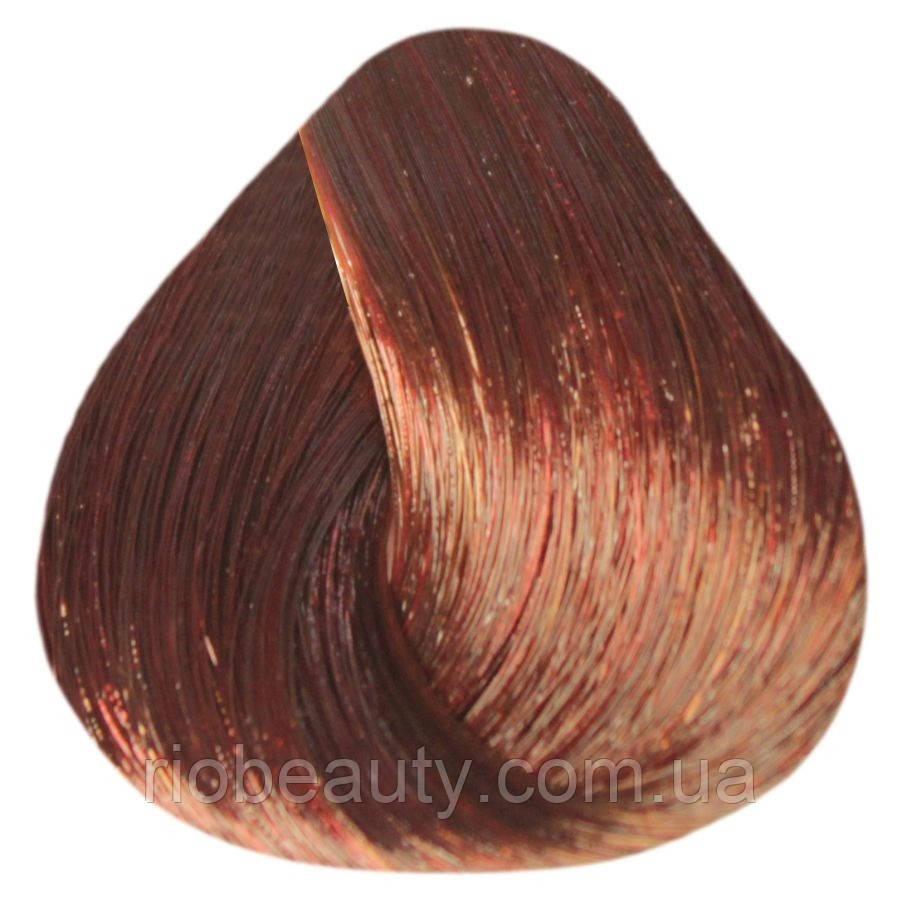 Краска уход ESTEL De Luxe  5/50 Светлый шатен красный для седины  60 мл