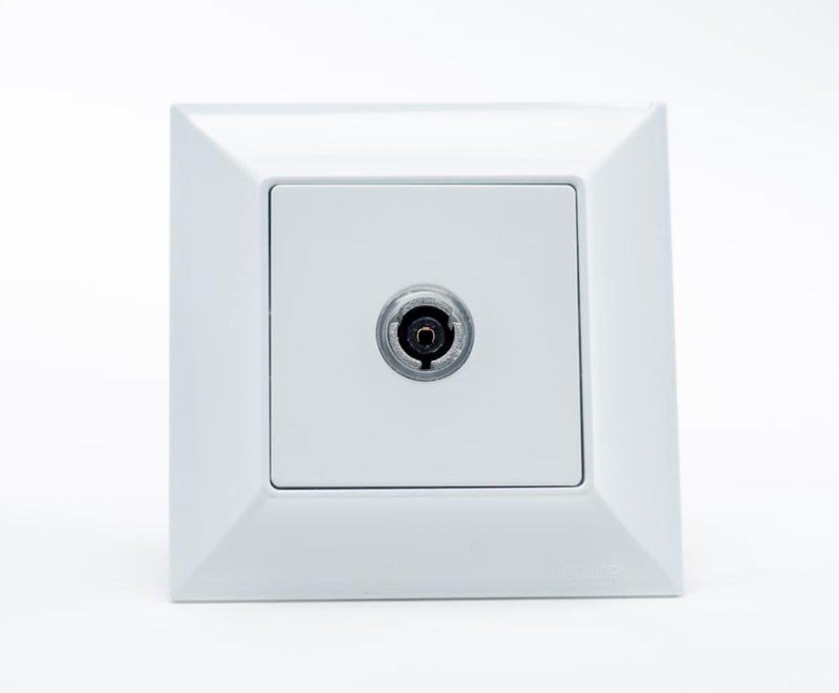 Neoline розетка ТВ 1-ая  концевая белая