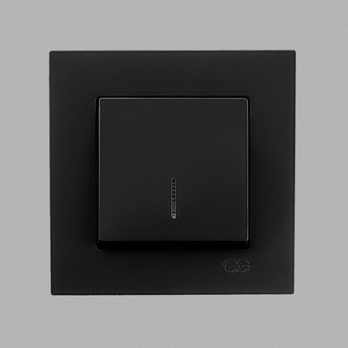 Eqona Выкл. 1-клав. с подсв. черный