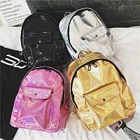 Рюкзак голограммный среднего размера, рюкзаки женские, женский рюкзак, жіночі рюкзаки, жіночий рюкзак