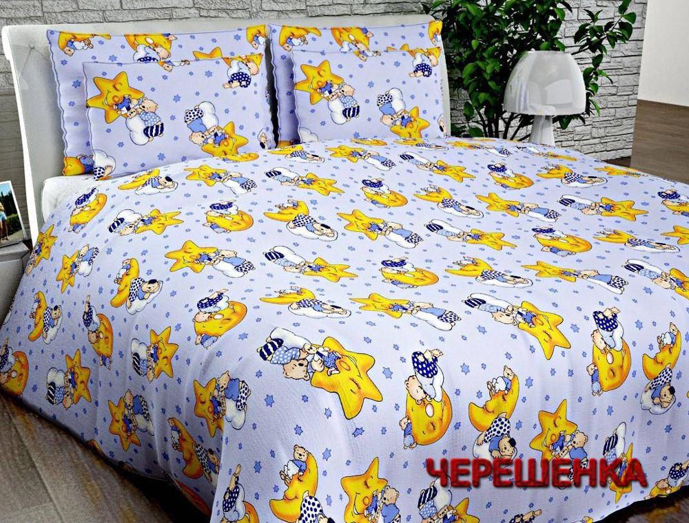"""Ткань для постельного белья Бязь """"Gold"""" Lux детская GLB013 (50м) со звездами"""