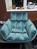Кресло поворотное CHARDONNE (Шардоне) велюр бирюзовый Nicolas (бесплатная адресная доставка), фото 6