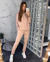 Замшевый костюм розового цвета 42-44, 46-48 р.