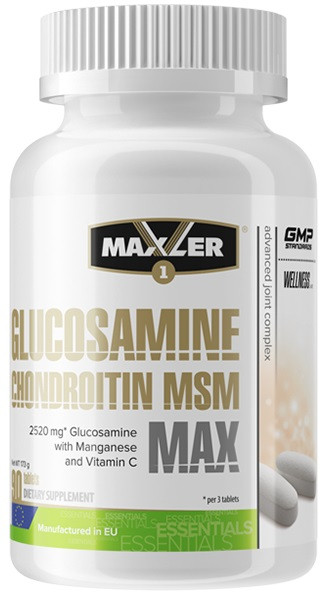 Для суставов и связок Maxler - Glucosamine Chondroitin MSM MAX (90 таблеток)