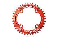Звезда-неспадайка к шатуну NW AL 32T круг BCD 104 SNAIL (красный)