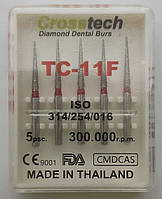 Стоматологические алмазные боры 5 шт. TC - 11F CROSSTECHI