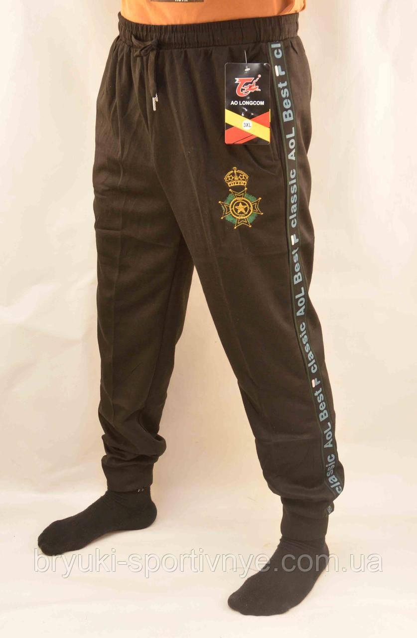 Брюки спортивные мужские под манжет с принтом XL - 5XL  Штаны в рубчик Ao longcom