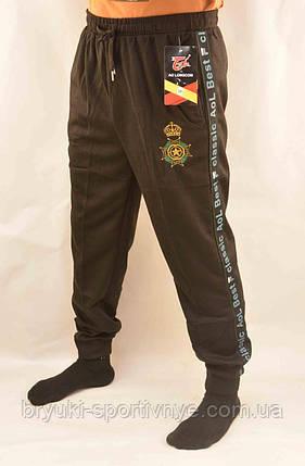 Брюки спортивные мужские под манжет с принтом XL - 5XL  Штаны в рубчик Ao longcom, фото 2