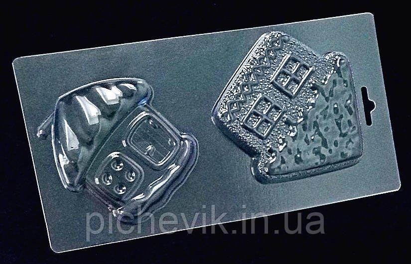 """Кондитерская форма  """"Домики""""  B2-060 (Размер формы 120*230мм)"""