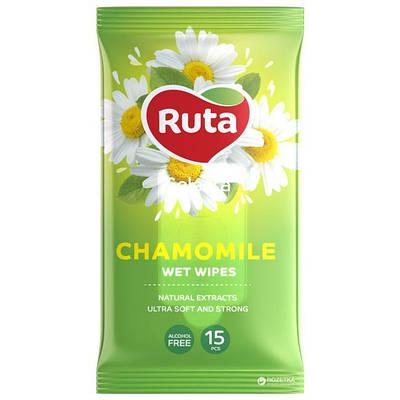 """Вологі серветки """"Ruta Selesta"""" Chamomile (15 шт.)"""