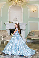 Платье выпускное нарядное для девочки со шлейфом 1201, фото 1