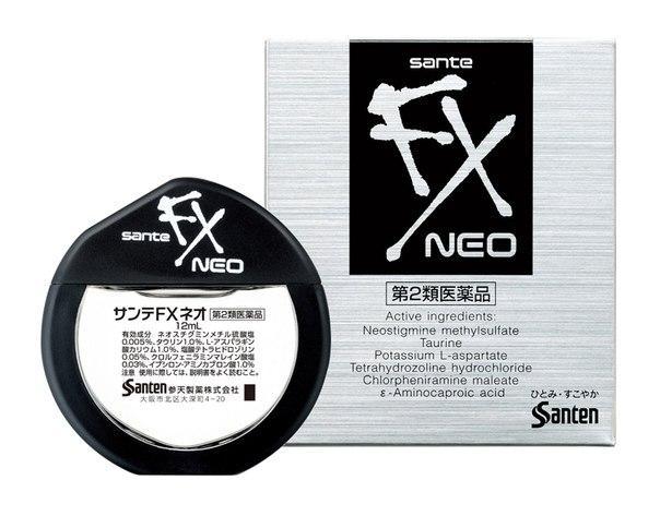 Sante FX Neo Краплі з таурином від втоми і почервоніння очей, індекс свіжості 5, 12 мл