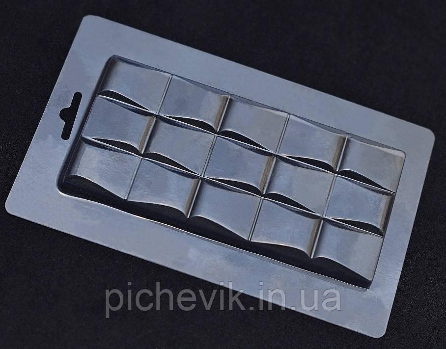 """Форма пластиковая """"Шоколад - """"Волны"""" E1-037 (Размер формы 115*180мм)"""