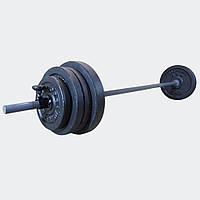 Штанга 29 кг разборная фиксированная прямая 1.5 м наборная для дома домашняя