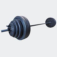 Штанга 65 кг разборная фиксированная прямая 1.8 м наборная для дома домашняя