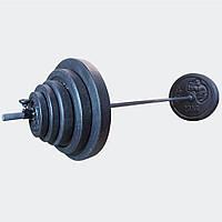 Штанга 85 кг разборная фиксированная прямая 1.8 м наборная для дома домашняя