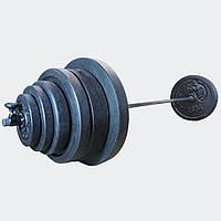 Штанга 116 кг разборная фиксированная прямая 2 м наборная для дома домашняя