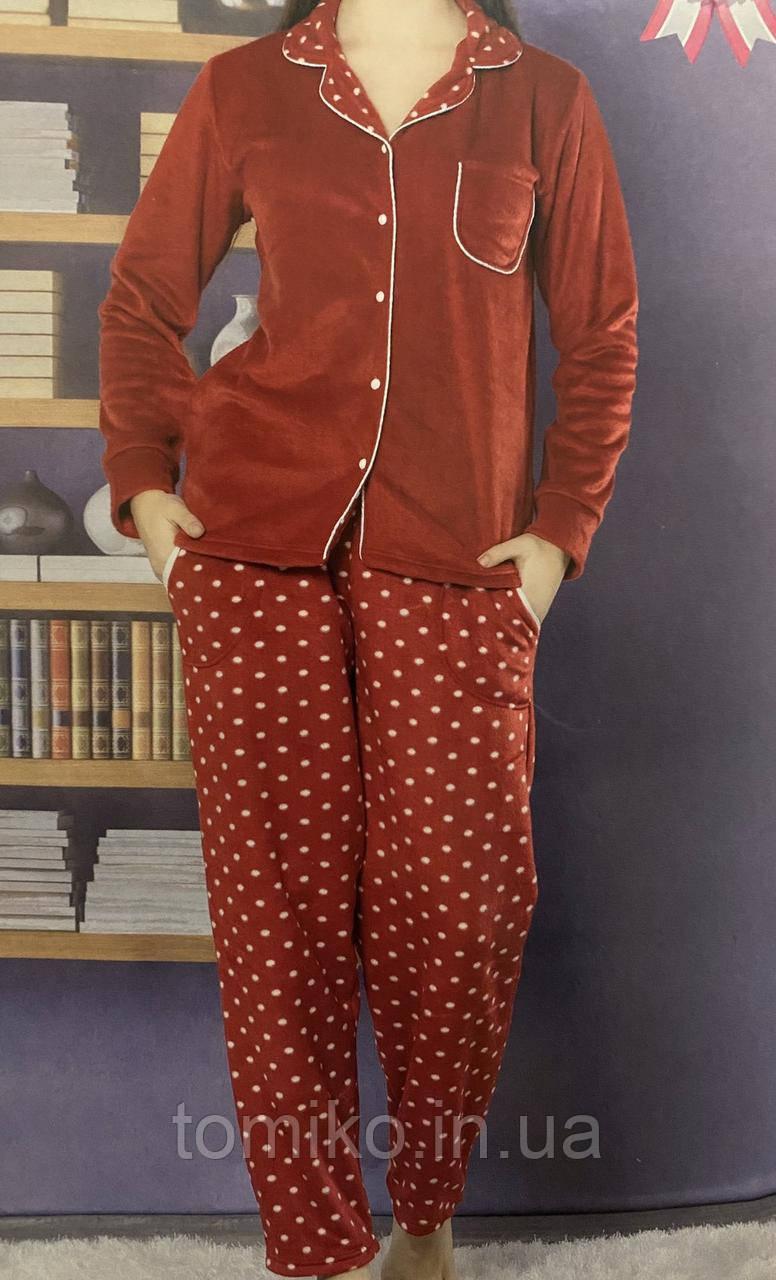 Пижама флисовая женская тёплая. Турция