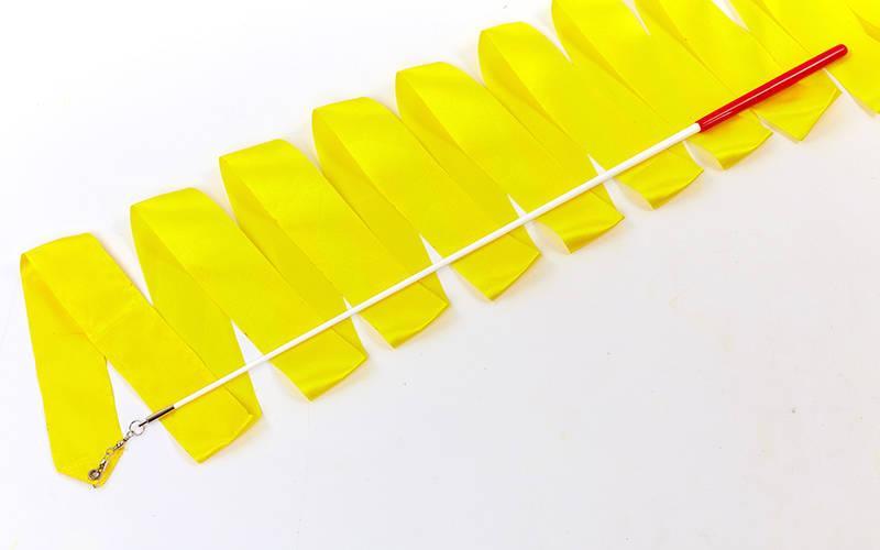 Лента для гимнастики 4м Lingo C-7152 (Желтый)
