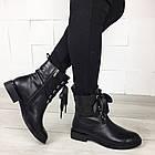 Женские демисезонные ботинки в черном цвете, из натуральной кожи  ( под заказ), фото 2