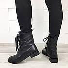 Женские демисезонные ботинки в черном цвете, из натуральной кожи  ( под заказ), фото 3