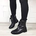 Женские демисезонные ботинки в черном цвете, из натуральной кожи  ( под заказ), фото 4